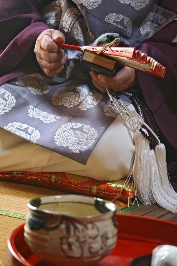 Japanischer Mönch stockbild