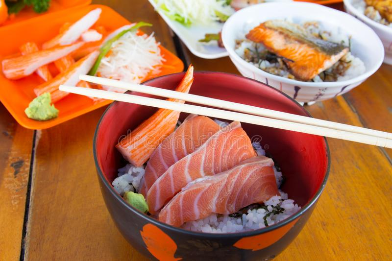 Japanischer Nahrungsmittelsashimi stockfotografie