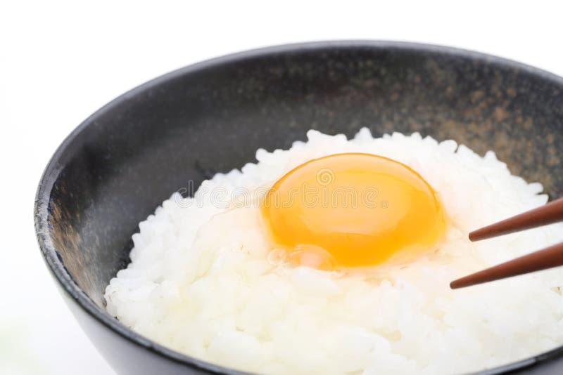 Japanischer Reis mit Ei lizenzfreie stockfotos