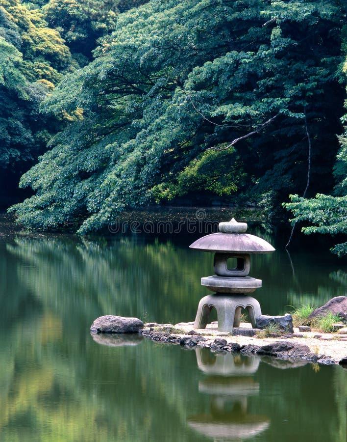 Japanischer ruhiger Garten stockfotografie