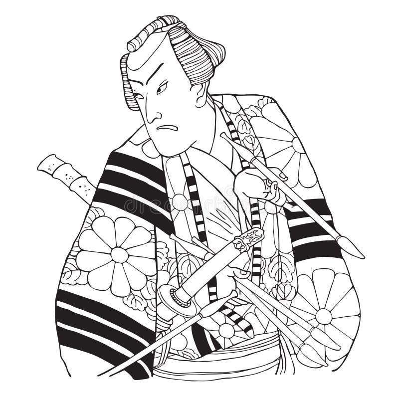 Japanischer Samurai stock abbildung