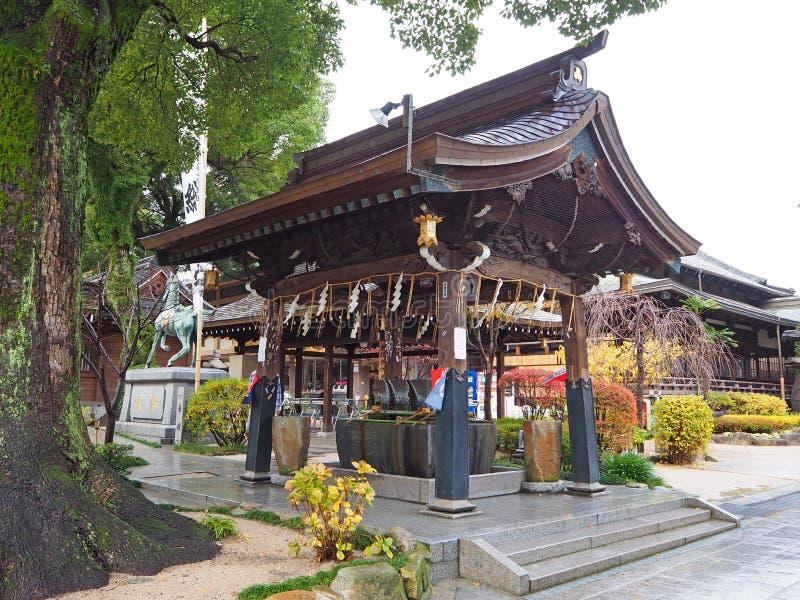 Japanischer Schrein in Fukuoka lizenzfreie stockfotografie