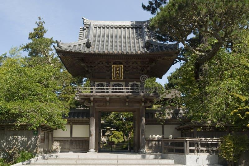 Japanischer Tee-Garteneingang lizenzfreie stockfotos
