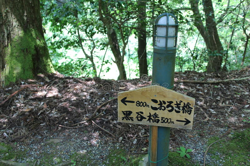 Japanischer Wegweiser lizenzfreie stockbilder