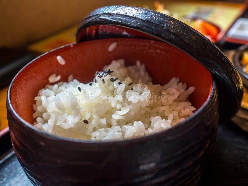 Japanischer weißer Reis stockfotografie