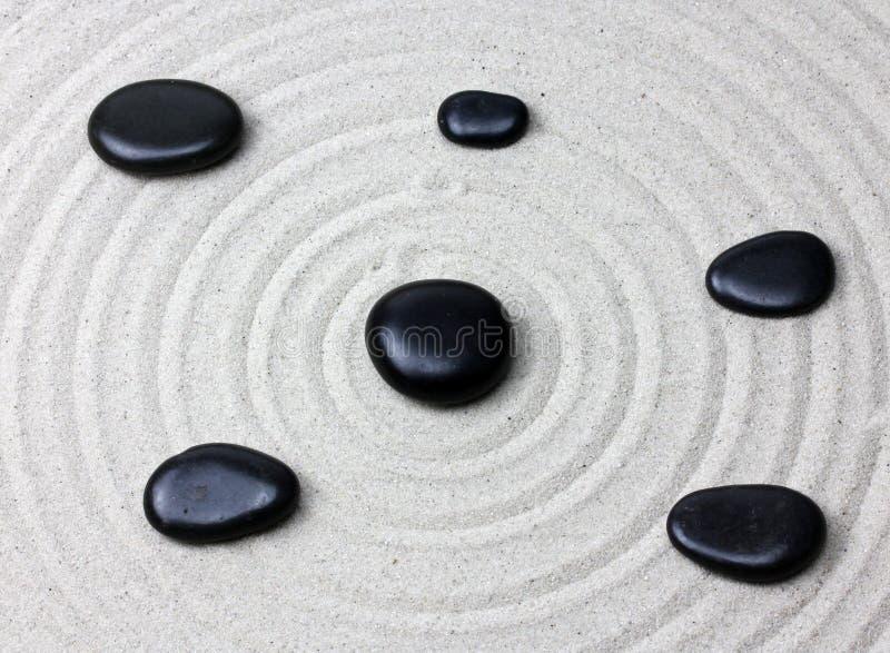 Japanischer Zengarten-Meditationsstein lizenzfreies stockfoto