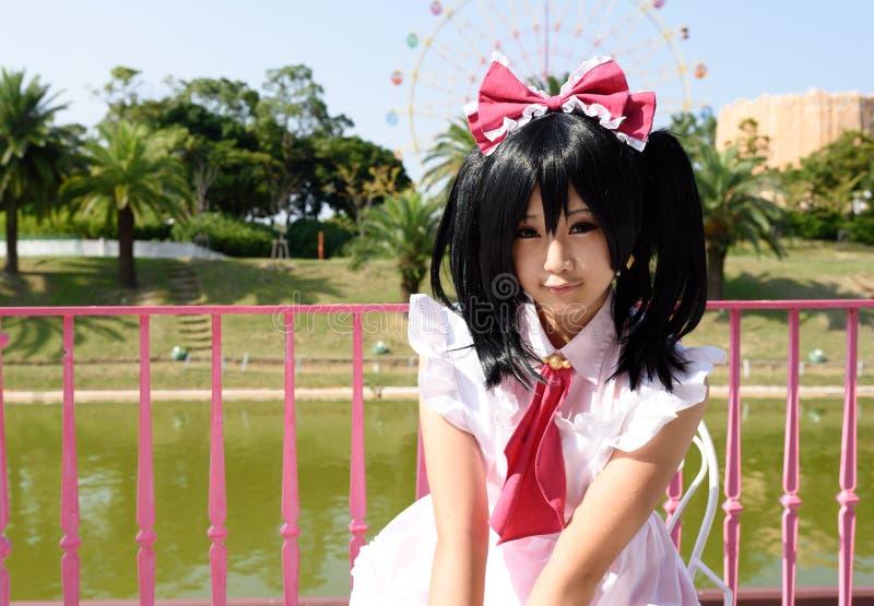 Japanisches cosplay Mädchen lizenzfreie stockfotos