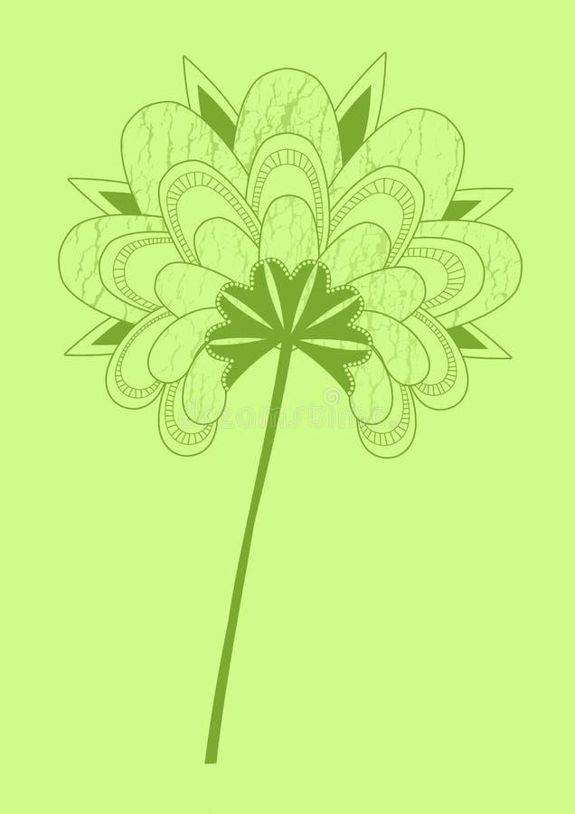 Japanisches grünes BlumenGrunge vektor abbildung