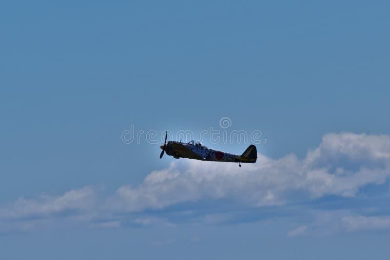 Japanisches Kampfflugzeug stockfoto