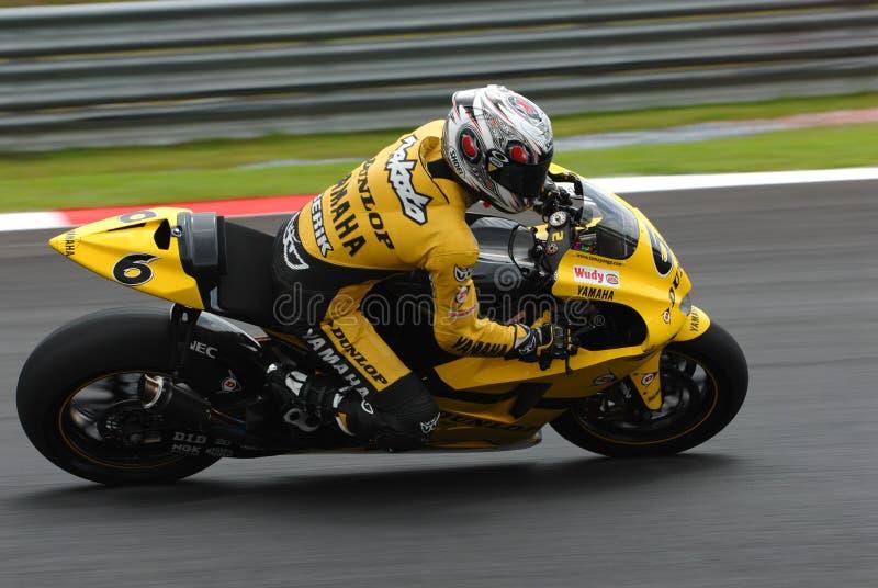 Japanisches Makoto Tamada Dunlop Yamaha Polini 2007 M stockfotos