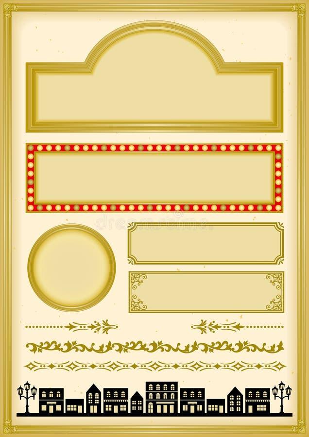 Japanisches nostalgisches Design. lizenzfreie abbildung