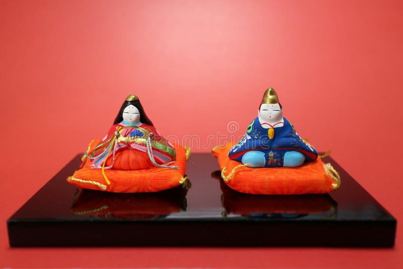 Japanisches Puppenfestival in der roten Stimmung stockbilder