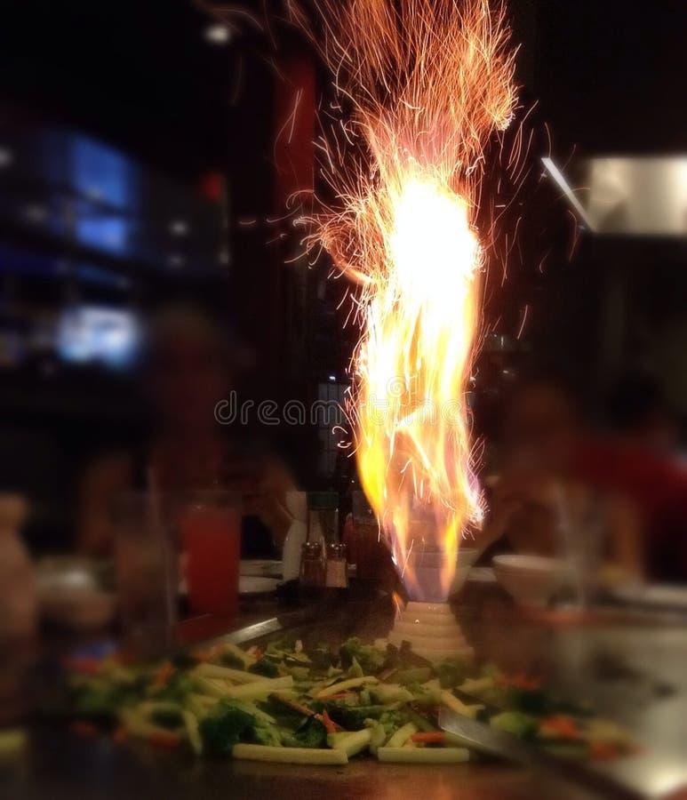 Japanisches Restaurant-Gemüseaufruhr-Fischrogen stockfoto