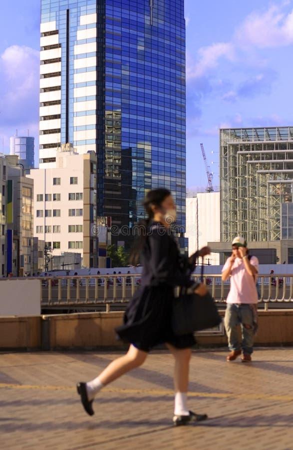 Japanisches Schulmädchen lizenzfreie stockfotografie