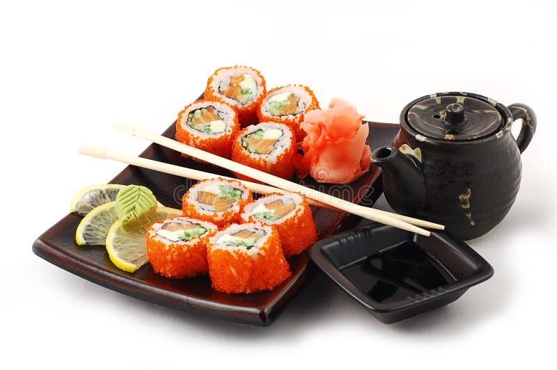 Japanisches sush lizenzfreie stockfotografie