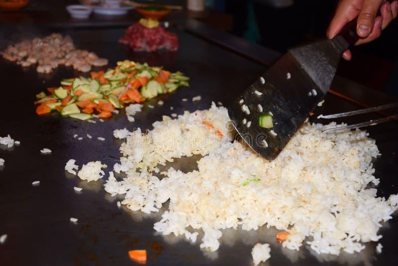 Japanisches teppanyaki lizenzfreies stockbild