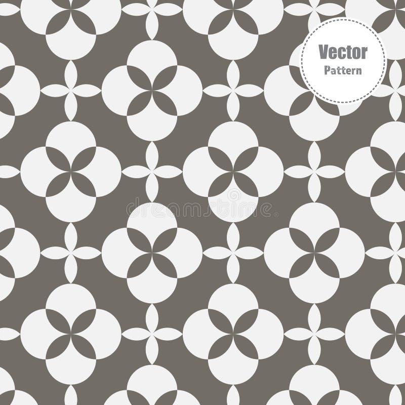 Japanisches Vektormuster Kreis wiederholend, ?berschneiden Sie jedes f?r Blume und Zusammenfassung Kirschbl?te-Blume in der Mitte lizenzfreie abbildung