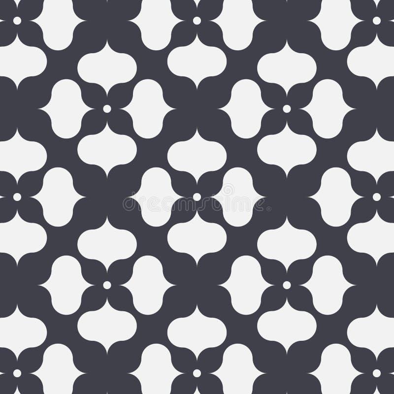 Japanisches Vektormuster Kreis wiederholend, ?berschneiden Sie jedes f?r Blume und Zusammenfassung Kirschbl?te-Blume in der Mitte vektor abbildung
