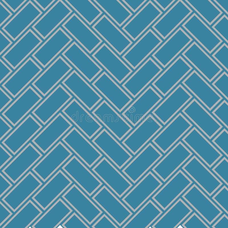Japanisches Zickzack-Rechteck Art Seamless Pattern stock abbildung