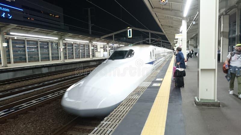 Japanner drukt nozomi uit stock foto