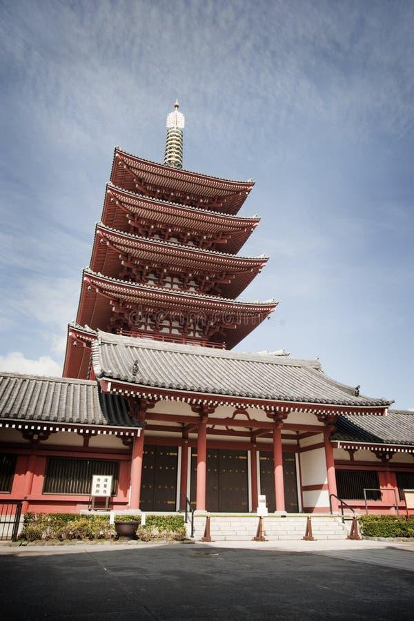 Japannesepagode stock afbeelding