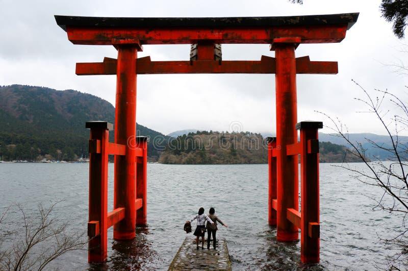 Japanrelikskrin royaltyfria foton