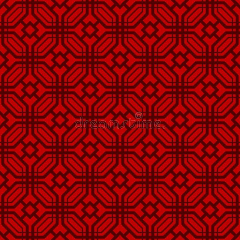 Japans Achthoekpatroon royalty-vrije illustratie