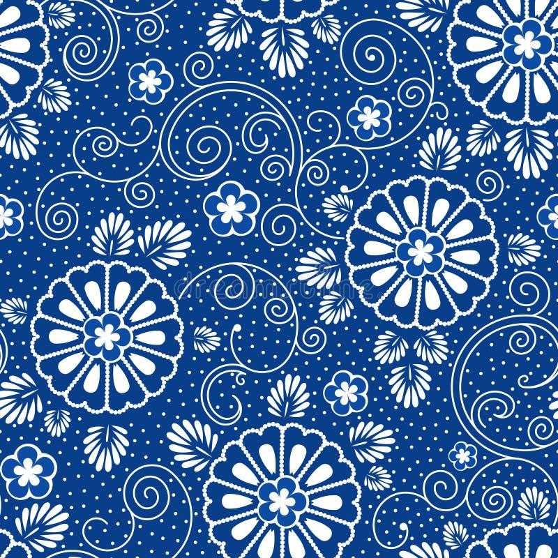 Japans blauw patroon royalty-vrije illustratie