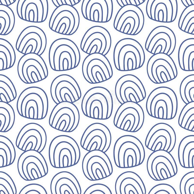 Japans, Chinees traditioneel Aziatisch blauw geometrisch naadloos patroon vector illustratie