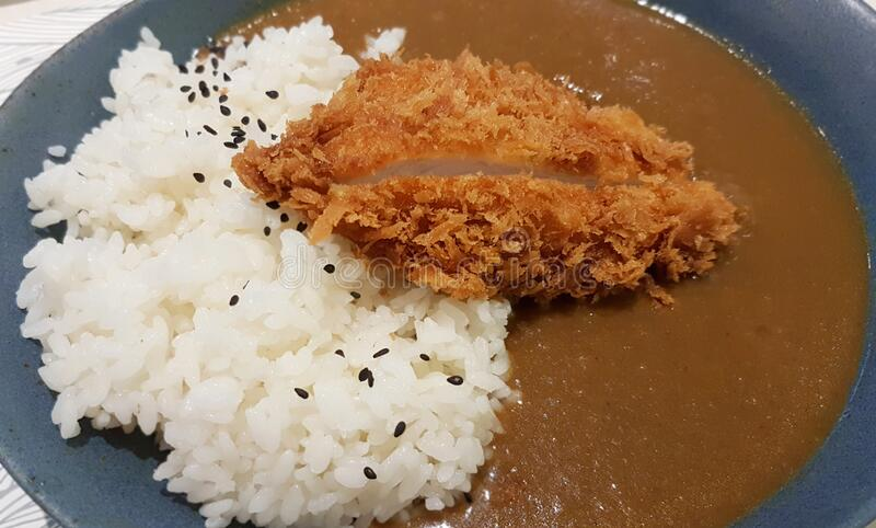 Japans Curry Pork Chop stock foto