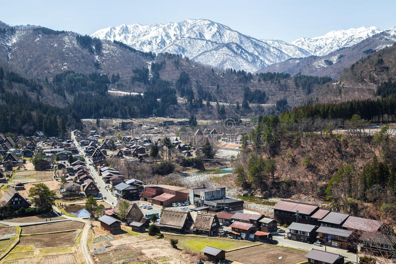 Japans dorp Shirakawago royalty-vrije stock foto