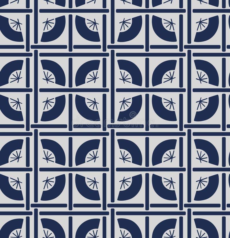 Japans Geometrisch Vouwend Ventilatorpatroon vector illustratie