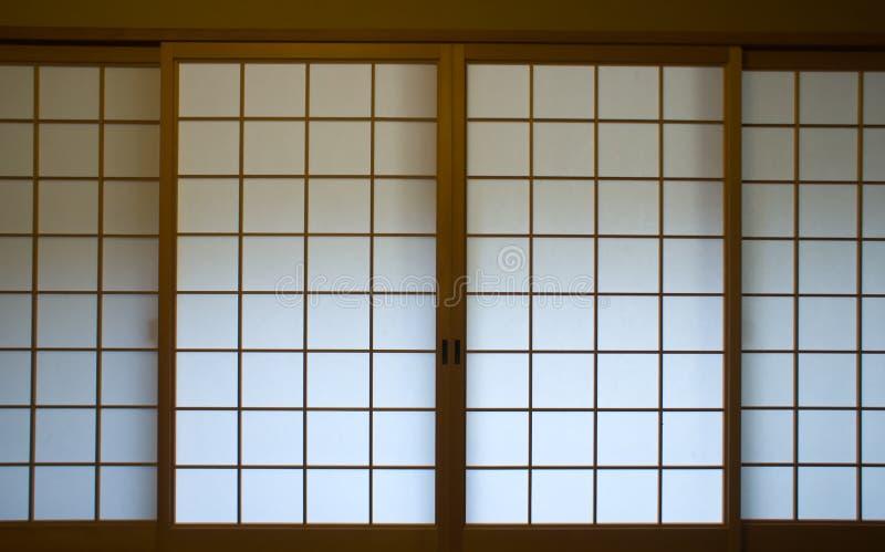 Japans het schermvenster royalty-vrije stock foto's