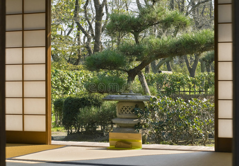 Japans huis royalty-vrije stock afbeeldingen