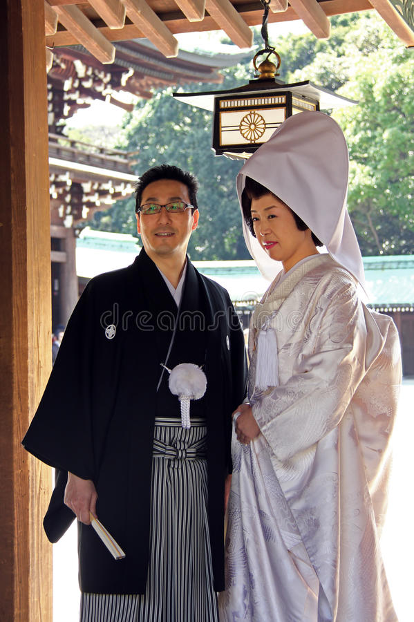 Japans huwelijk royalty-vrije stock foto's