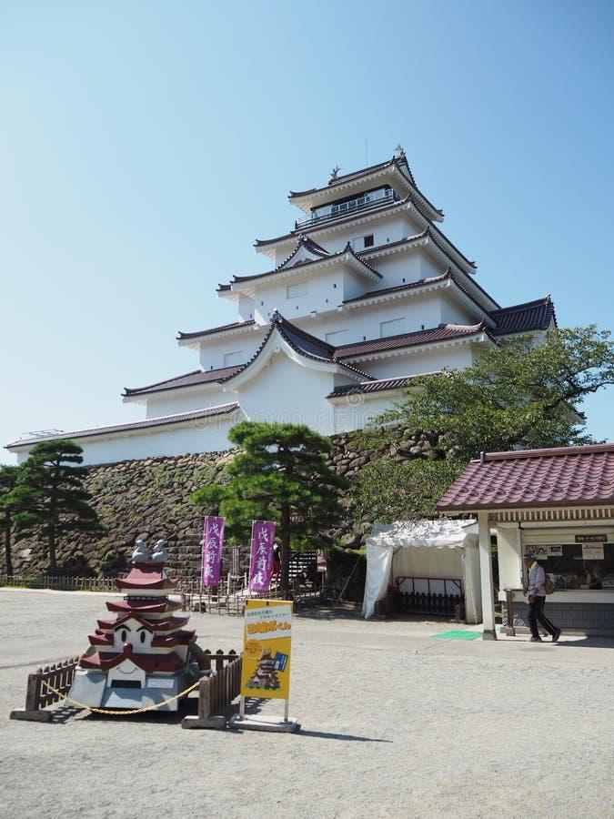 Japans Kasteel met Blauwe Hemel royalty-vrije stock foto's