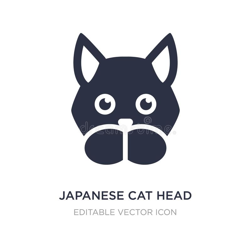 Japans katten hoofdpictogram op witte achtergrond Eenvoudige elementenillustratie van Dierenconcept royalty-vrije illustratie