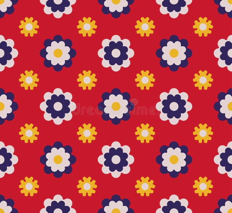 Japans Leuk Dot Flower Pattern stock illustratie