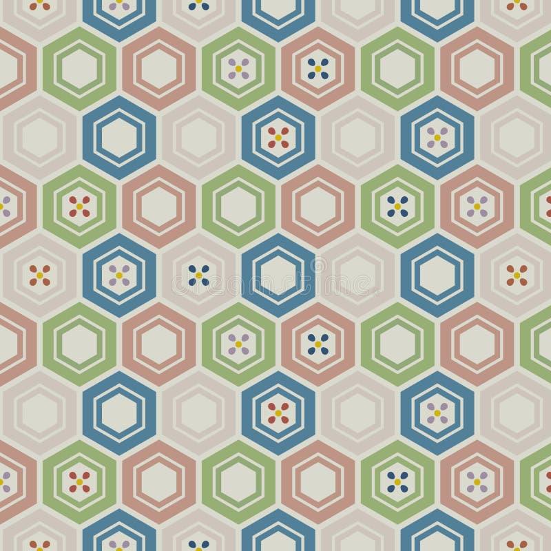 Japans Leuk Hexagon Bloempatroon royalty-vrije illustratie