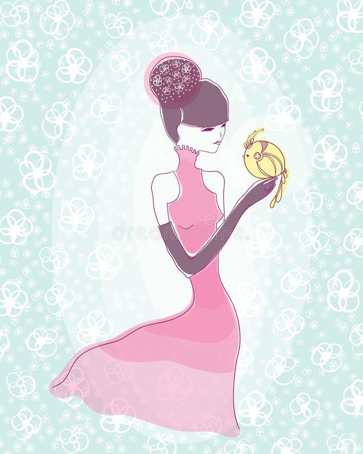 Japans meisje royalty-vrije illustratie