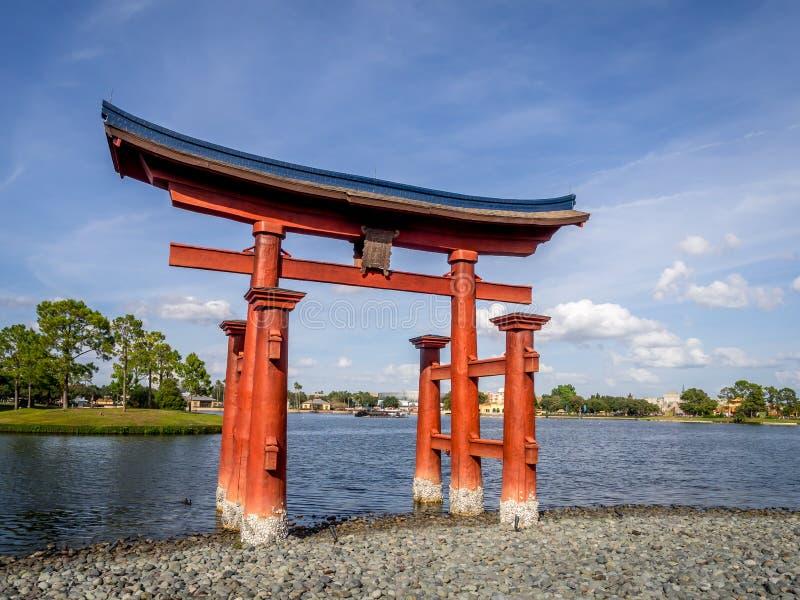 Japans paviljoen, Wereldshowcase, Epcot stock afbeeldingen