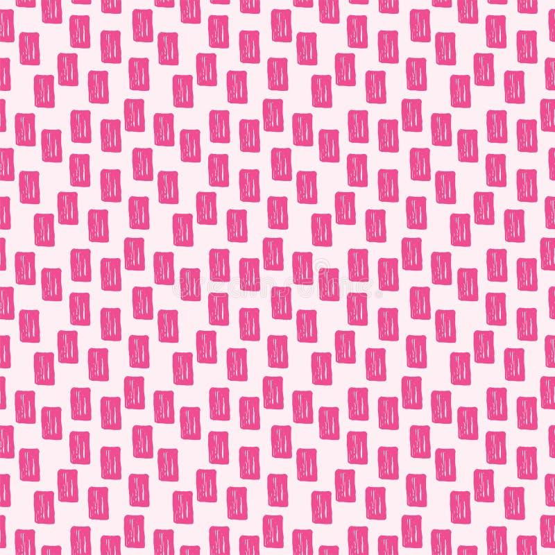 Japans traditioneel oppervlakte vectorontwerp met rechthoeken Abstract hand getrokken naadloos patroon stock illustratie