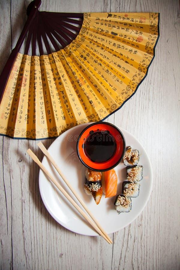 Japans voedsel: maki royalty-vrije stock foto's