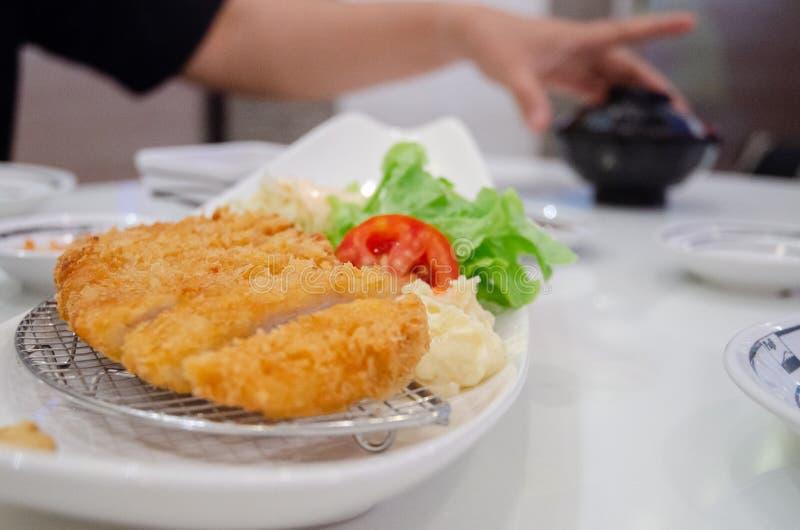 Japans voedsel op een witte plaat royalty-vrije stock afbeeldingen