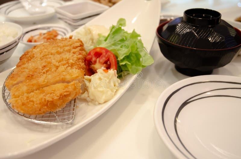 Japans voedsel op een witte plaat stock foto's