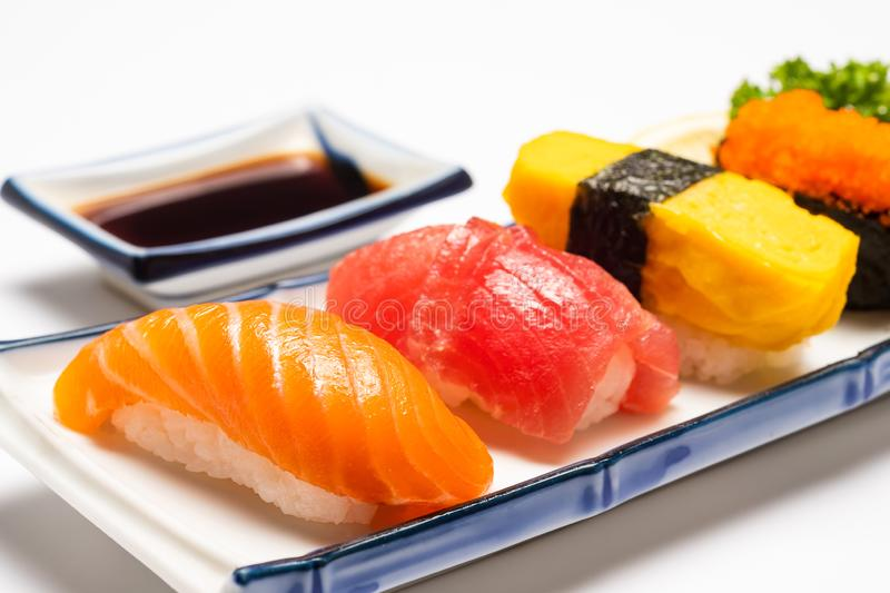 Japans voedselconcept Sushizalm royalty-vrije stock afbeelding