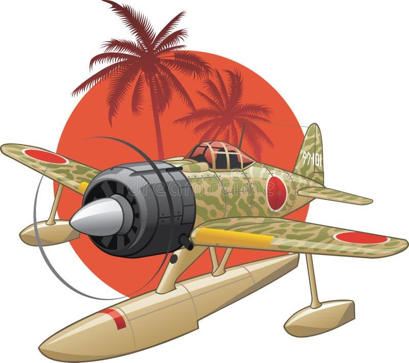 Japans WW2 watervliegtuig royalty-vrije illustratie