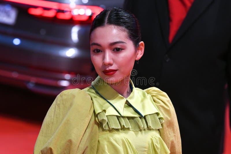 Japanse actrice Fumi Nikaido tijdens Berlinale 2018 stock fotografie