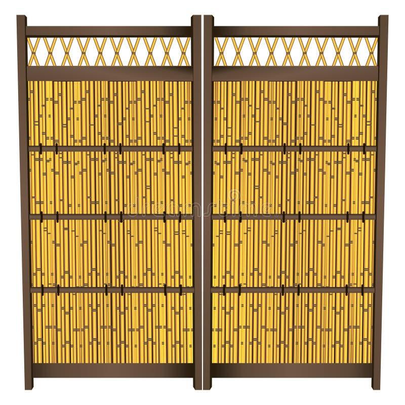 Japanse Bamboeomheining vector illustratie