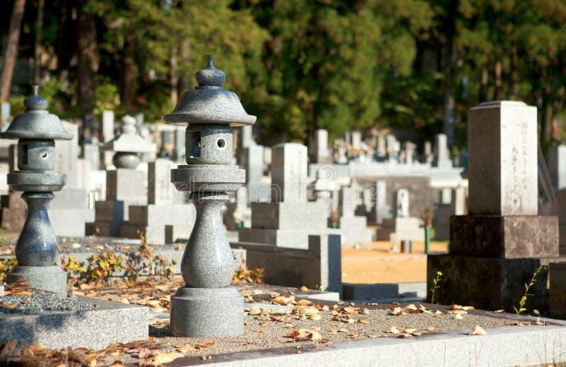 Japanse begraafplaats stock foto